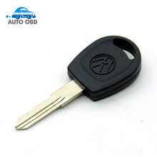 Free shipping for blank transponder car key shell case cover for Vw Passat (can install chip) With Logo