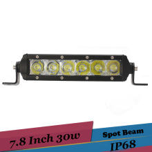 8 Inch LED Light Bar Off Road LED Lights 30W Driving Fog Lights for Durango Ford F350 Cabin Boat SUV Truck UTV Golf Headlight