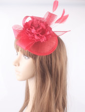 Nice silk flower fascinator hair accessory sinamay base and trims wedding headwear party and cocktail hats multiple color select