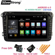FREE SHIPPING Android6 2GB RAM Car DVD Player for VW Golf mk6 5 Polo Jetta Tiguan Passat B6 5 cc for skodaoctavia fabia AD66S