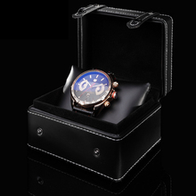 High Quanlity Leather Watch Box Black Special Design Watch Storage Case With Button Fashion Gift Box For Watches A091