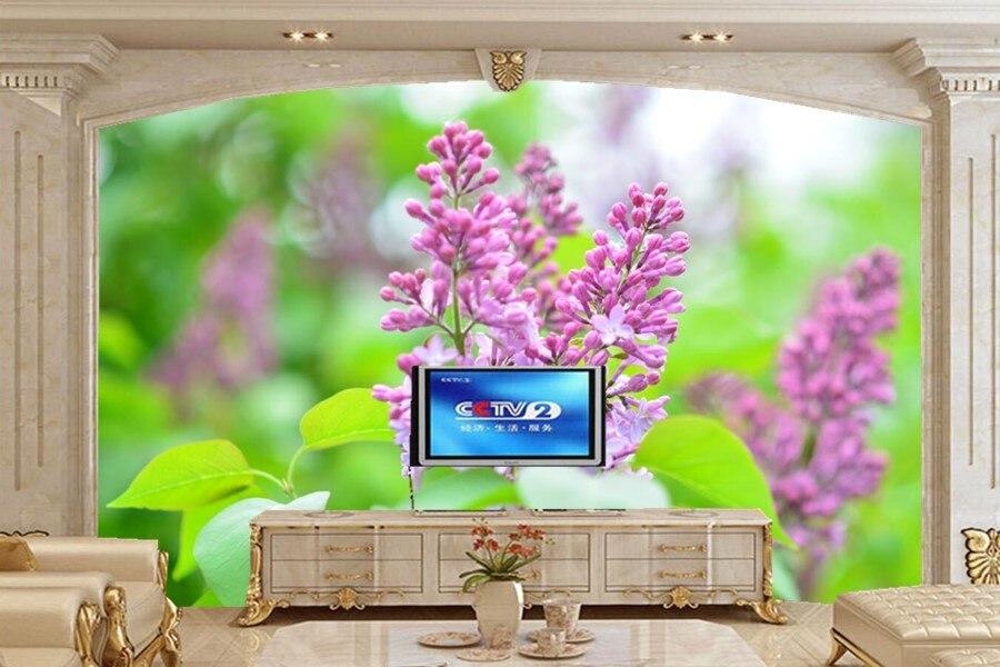 Flowering trees Lilac Flowers wallpapers papel de parede,living room TV sofa wall bedroom 3d wall murals wallpaper<br>
