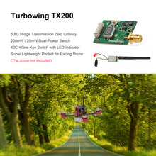 Original Turbowing TX200 5.8G 200mW 40CH Mini Wireless AV Transmitter for RC Drone FPV Racing Quadcopter