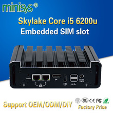 Minisys Intel NUC Mini PC Skylake I5 6200u processor Dual Core Thin Client Fanless Pocket TV BOX desktop Computer For Window 10(China)