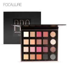 Focallure highly pigmented eyeshadow  20 colors flash shimmer eyeshadow palette rose gold red matte eye shadow powder FA48