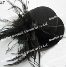 free shipping 50pcs Hair Clip Accessories Mini Top Hat good quality hat