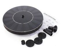 mini solar energy floating fountain maker diameter 160mm oxygen landscaping for fish pond pool
