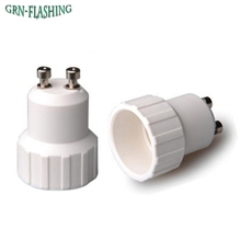 1Pcs GU10 to E14 Fireproof Material lamp Holder Converters Socket Conversion Adapter light Base Type Bulb(China)