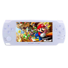 4.3 Inch Handheld Game Players Ultra-Thin 8G Built In Memory Video Game Console MP5 Music Player White