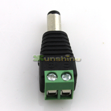 20pcs/lot 5.5/2.1mm DC Connector CCTV UTP Cable Power Plug Adapter Cable DC/AC 2/Camera Video Balun Connector Free Shipping(China)