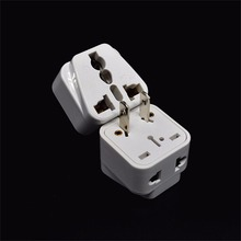 White Small Compact and Lightweight 2 pin AC American USA Power Plug Adapter Travel Converter Australia UK USA EU