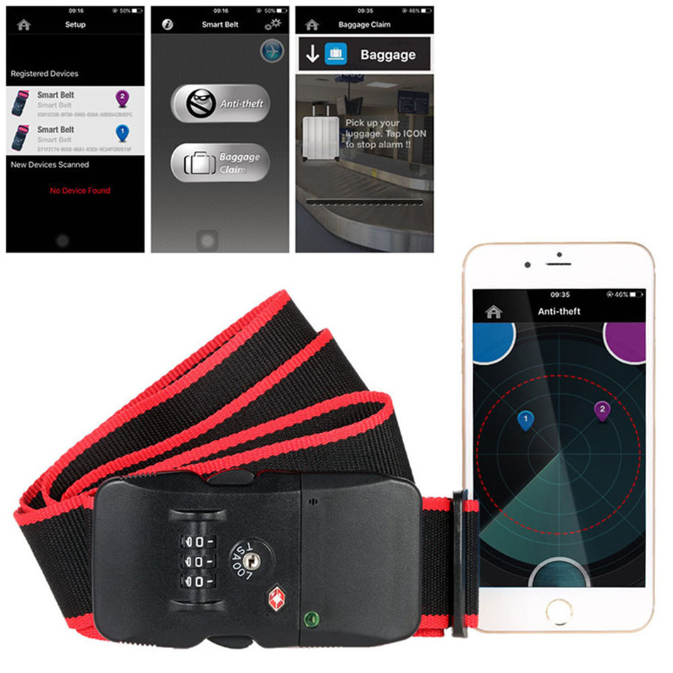 NS-LS100 Travel Box Bag Packing Belt Digital Password Lock App Smart Bluetooth Anti-theft Alarm Customs <br>