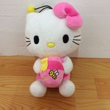 Free Shipping Sitting 30cm=11.8inch Bee models Hello Kitty Plush Toys Stuffed Animals Soft Doll for birthday gift