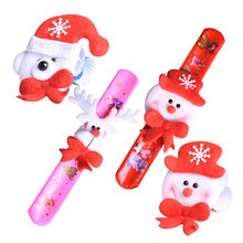 12pcs/lot Multi-style Christmas Patting Circle For Childrens Toys Hair ring Bracelet Watch Wrist XMAS Party Decoration Supplies
