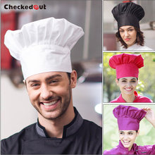 Food service High quality cotton fabric white french chef hat with differnt colors for your choice(China)