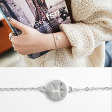 2017 drop shopping 1pcs beaytiful simple jewellery 12 constellation series 100% 925 sterling bracelets for women B115
