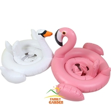 Childrens Swimming Aids Inflatable Float Pool Flamingo Bird White Swan Seat Ring Boat Animal Kids Beach Toy(China)