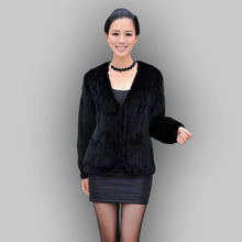 genuine mink fur coat women's fashionable mink fur knitted jacket overcoat ombre color Free Shipping EMS F434