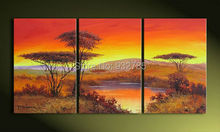 The African Impressions ! 100% Handmade Modern Landscape Oil Painting On Canvas Wall Art ,Top Home Decoration,FZ101(China)