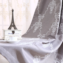 Lighthouse Contemporary Contracted Shading Gray Cotton Embroidered Curtain Product Curtains for Living Dining Room Bedroom