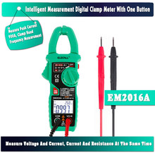 ELECALL EM2016A Smart  Measurement Digital Clamp Meter With 900A Peak Current Auto Range Clamp Head Frequency Measurement