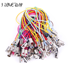 100pcs Various Colors Mobile Phone Charms Dangle Strap String Strand Thread Cord DIY Jewelry making