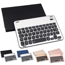 High Quality Aluminum Alloy Split Bluetooth Wireless Keyboard with Leather Case Cover for iPad mini123 Tablet Protector(China)