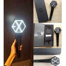 Black Version Kpop EXO Light Sticks Sehun Chanyeol Korea Concert Glow Stick Figure Christmas Gifts Not Included Batteries(China)