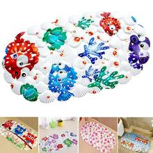 Bathroom Flower fish And Beach Shells Bath Mat Contour Slip Carpet Pedestal Rug Non-Slip Bath Toilet Mat L45