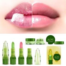 2pcs Lips Balm Moisturizing Nutritious Color Change Aloe Lip Balm Make Up Waterproof Long Lasting Lipstick Beauty Lip Makeup YE2(China)