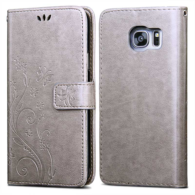 Flip Leather Case for Samsung Galaxy S7 S6 Edge +Luxury 3D Flower Silicon Phone Back Cover For Samsung Galaxy J5 J500 2015 Coque(China (Mainland))