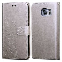 Flip Leather Case for Samsung Galaxy S7 S6 Edge +Luxury 3D Flower Silicon Phone Back Cover For Samsung Galaxy J5 J500 2015 Coque(China)