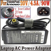 Wholesale 20V 4.5A 90W 8mm*5.5mm AC Power Laptop Adapter Charger For Lenovo IBM Thinkpad T60 T61 X60 X61 T410 Free&Shipping