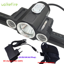 Walkfire T6 3 LED Bicycle Front Light Mount Holder 180 Degree Rotate Bike Headlight Cycling Warning Lamp Flashlight Accessories - Shenzhen super light Technology Co., Ltd. store