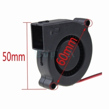 Gdstime 2 Pieces Mini 5V 2Pin 0.14A 5015s 50mmx50mmx15mm 5cm Plastic Brushless Cooler Blower Fan for PC Computer CPU Cooling