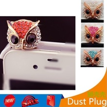 Fashion Owl 3.5mm Dust Plug Cap Cell for iPhone Samsung S8 Earphone Jack Plug Headphone Plugs Anti Dust Plug Phone Accessories(Hong Kong,China)