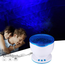 Fairy Ocean Wave Blue Led Projector Light Marine Aurora Dream Star Projection Lamp For Living Room/Bedroom Decoration Lamps(China)