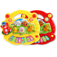 Toddler Learning Machine Toy with Lights, Music Songs, Learning Stories Toy Musical Instrument Animals Pattern Farm Music Piano