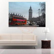 G928 London England red phone #e Canvas Painting Wall Silk Poster cloth print Custom Print your image Fabric Poster(China)