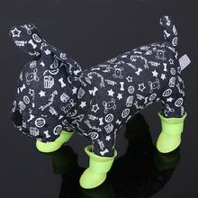 New DOG BOOTS Waterproof  Protective Rubber Pet Rain Shoes Booties of Candy Colors Free Shipping