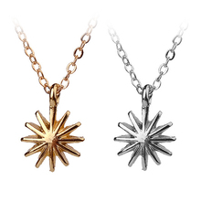 Accomplish Magnificent Things Starburst Venus Pendant Necklace Gold Color Clavicle Chains Statement Necklace Women Jewelry