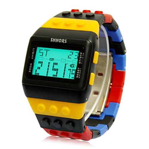 2016 New Fashion Men Sports Watches Block Digital LED Watch Famous Brand Quartz Men Wristwatches Colorful Clock Hours<br><br>Aliexpress