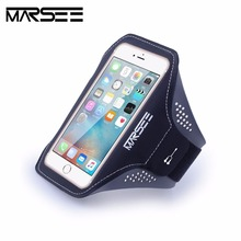 Phone Case,Marsee Sport Phone Case Key Holder Slot Earphone Connection Gym Sports Fitness Running Workout for iPhone 6/6s/7 Plus(China)