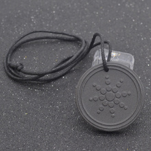 fashion lychee Lave Stone Quantum Pendant Necklace Scalar Orgon Energy Neg Ions EMF Protection Health Care(China)