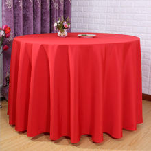 "Big Discount & Factory Price!!!!  132"" Round Polyester 10pcs Red Table Cloth For Wedding &Party &Hotel &Resturant  FREE SHIPPING"