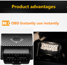 Multi-function Plug Play GPS Tracker Wireless Alarm Mini OBD Car GSM Vehicle Tracking Device 16 PIN Interface Built-in Antenna