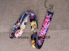 Hot Sale!  10 pcs Popular Cartoon Horse Key Chains Mobile Cell Phone Lanyard Neck Straps Children   Party Favors SZ-041