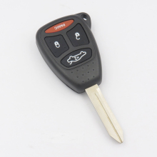 Remote Key Shell fit for CHRYSLER DODGE JEEP Car Key Case 3B +Panic Rubber Key Pad With LOGO