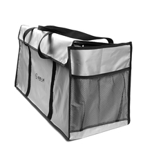 1pc 76*34*27 cm Large Capacity Storage Bag Oxford Cloth Picnic Bag for Outdoor Barbecue BBQ Special Grill Storage Bag Gray Color