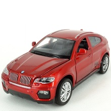 EFHH X6 Pull Back Musical Flashing Alloy Vehicle Model Diecast 1:32 Scale Collectible Diecast Door Can Open Drop Shipping(China)